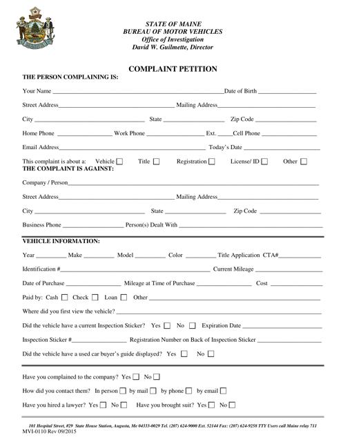 Form MVI-0110  Printable Pdf