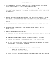 """Instructions for Form DT1 """"Gas Well Deliverability Test"""" - Louisiana"""