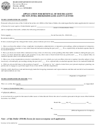 """Application for Renewal of Issuer Agent or Non-FiNRA Broker/Dealer Agent License"" - Idaho"