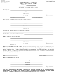 "Form 113 ""Notice of Designated Physician"" - Kentucky"