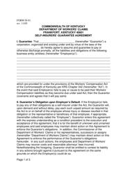 "Form SI-01 ""Self-insurers' Guarantee Agreement"" - Kentucky"