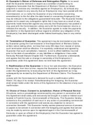"Form SI-01 ""Self-insurers' Guarantee Agreement"" - Kentucky, Page 2"
