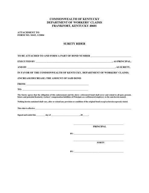 Form SI-03  Printable Pdf
