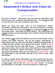 """Form WC18 """"Dependent's Notice and Claim for Compensation"""" - Colorado"""