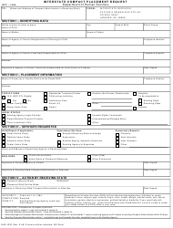 "Form DHS-4332 (ICPC-100A) ""Interstate Compact Placement Request"" - Michigan"