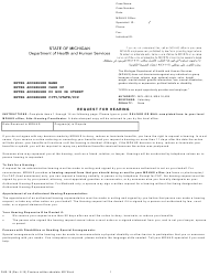 "Form DHS-18 ""Request for Hearing"" - Michigan"