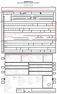 "Form PS33201 ""Motor Vehicle Crash Report"" - Minnesota"