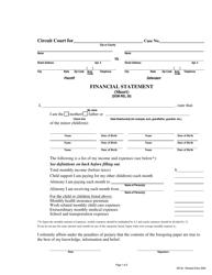 "Form DR30 ""Financial Statement (Short)"" - Maryland"