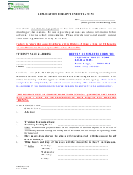 """Form LWC-UI130 """"Application for Approved Training"""" - Louisiana"""