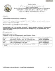 "Form WSD-1.104 ""Complaint Form"" - Hawaii"
