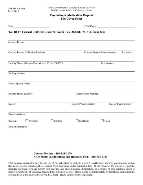 Form CFS431-A Printable Pdf