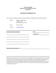 """""""Refund Request Form"""" - Mississippi"""