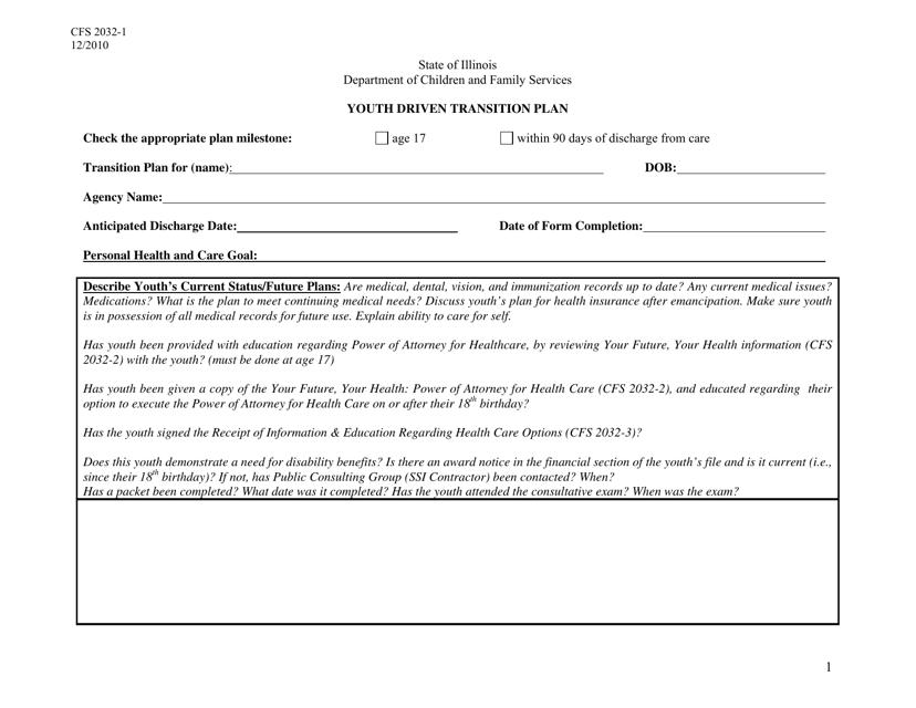 Form CFS2032-1  Printable Pdf