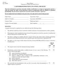 "Form CFS483 ""Caseworker Permanency Planning Checklist"" - Illinois"
