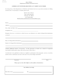 "Form CFS744 ""Americans With Disabilities Act Grievance Form"" - Illinois"