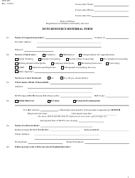 "Form CFS507 ""Dcfs Resource Referral Form"" - Illinois"