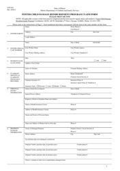 "Form CFS851 ""Foster Child Damage Reimbursement Program Claim Form"" - Illinois"