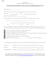 "Form CFS374 ""Emancipation Funding Application and Disbursement Plan"" - Illinois"