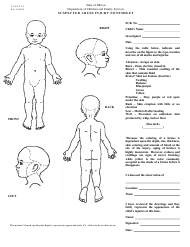 "Form CANTS2A ""Suspected Abuse Injury Notesheet - Infant"" - Illinois"