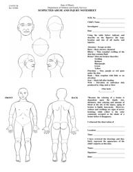 "Form CANTS2B ""Suspected Abuse Injury Notesheet - Child"" - Illinois"