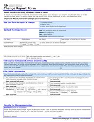 "Form HW0592 ""Change Report Form"" - Idaho"