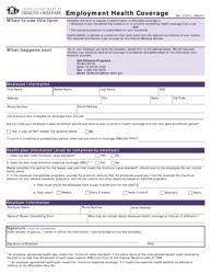"""Form HW2017 """"Employment Health Coverage"""" - Idaho"""