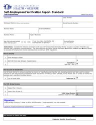 "Form HW0505 ""Self-employment Verification Report- Standard (Sole Proprietorship)"" - Idaho"