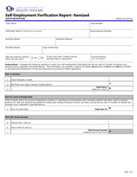 "Form HW2020 ""Self-employment Verification Report- Itemized (Sole Proprietorship)"" - Idaho"