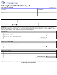 "Form HW0506 ""Self-employment Verification Report (LLC, S-Corp, or Partnership)"" - Idaho"