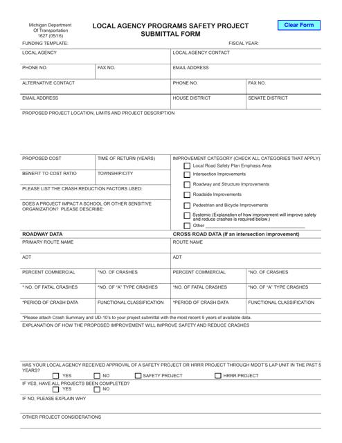 Form 1627  Printable Pdf