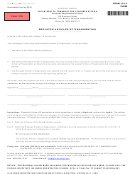 "Form LLC-4 ""Restated Articles of Organization"" - Hawaii"