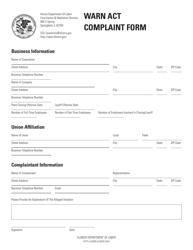 """""""Warn Act Complaint Form"""" - Illinois"""