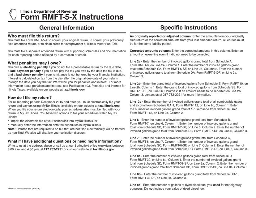 Form RMFT-5-X  Fillable Pdf