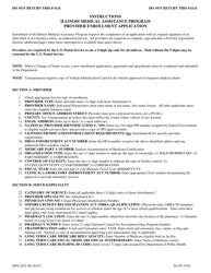 "Instructions for Form HFS2243 ""Illinois Medical Assistance Program Provider Enrollment Application"" - Illinois"