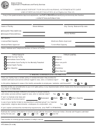 Form HFS 2022 Compliance Report for Skilled Nursing, Intermediate Care and Other 24-hour Facilities (Civil Rights Act Title Vi) - Illinois