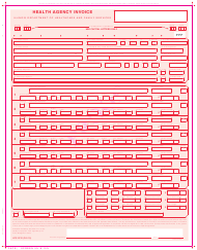 "Form HFS2212 ""Health Agency Invoice"" - Illinois"