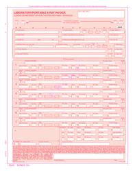 "Form HFS2211 (IL478-1020) ""Laboratory/Portable X-Ray Invoice"" - Illinois"