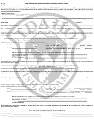 "Form BA-116A ""Application for Disabled Persons Archery Hunting Permit"" - Idaho"