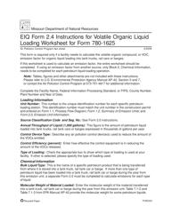 "Instructions for EIQ Form 2.4, MO780-1625 ""Volatile Organic Liquid Loading Worksheet"" - Missouri"