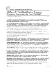 """Instructions for EIQ Form 2.7, MO780-1445 """"Haul Road Fugitive Emissions Worksheet"""" - Missouri"""