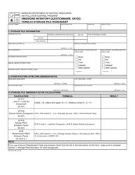 "EIQ Form 2.8 (MO780-1446) ""Storage Pile Worksheet"" - Missouri"