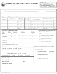 """Tuberculosis Case / Suspect Follow-Up Report"" - Hawaii"