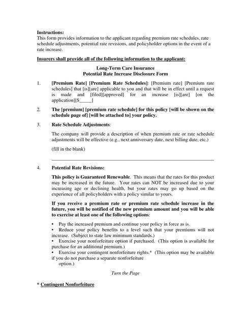 Form LTC-F  Printable Pdf