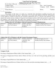 "Form LTC-G ""Long-Term Care Insurance Replacement and Lapse Reporting Form"" - Missouri"