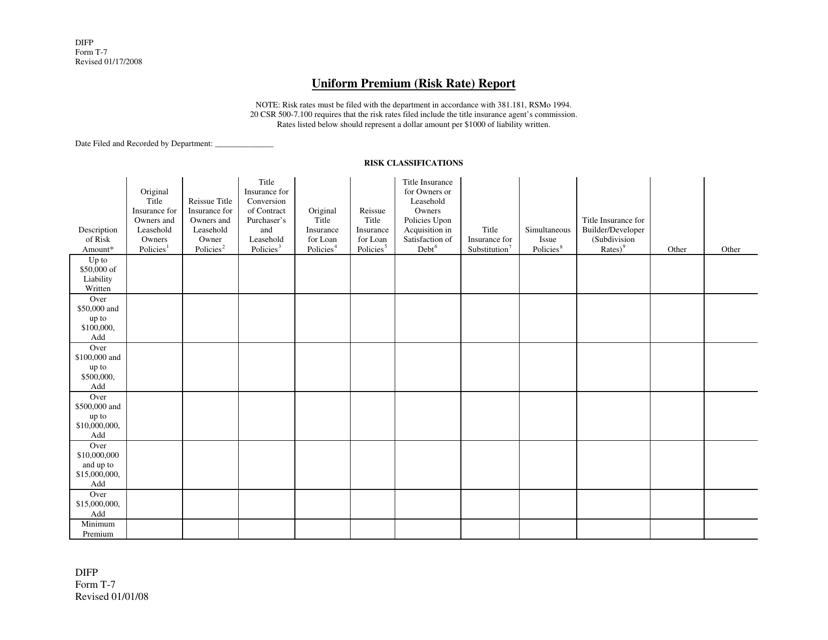 Form T-7  Printable Pdf