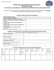 """Form WM-09 """"Mitigation and Marketing for Mitigation Reporting Form"""" - Montana"""