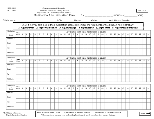 Form DPP-106H Printable Pdf