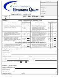 "Form 1 ""General Information"" - Montana"
