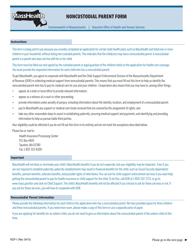 """Form NCP-1 """"Noncustodial Parent Form"""" - Massachusetts"""