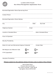 "Form ISP9-24 ""Gun Show Recognition Application Form"" - Illinois"